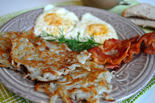 Hash Brown Garlic Potato Patties Recipe