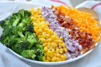 Broccoli and Cheddar Cheese Salad